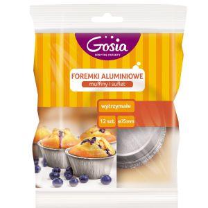 Foremki aluminiowe muffiny i suflet 12 szt._Gosia