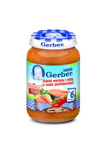 GERBER Bukiet warzyw z rybką w sosie pomidorowym 190g