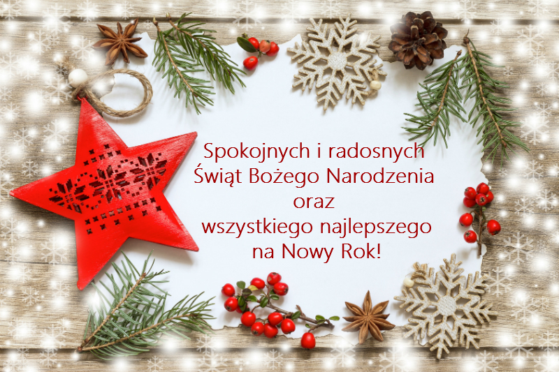 Znalezione obrazy dla zapytania świąteczne życzenia kartka