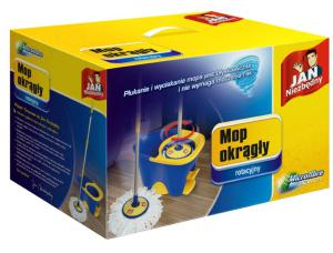 Jan Niezbędny, mop rotacyjny z wiadrem okrągły_cena 130 zł