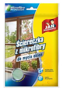 Jan Niezbędny_ściereczka z mikrofibry do mycia okien_cena ok. 8,00 zł