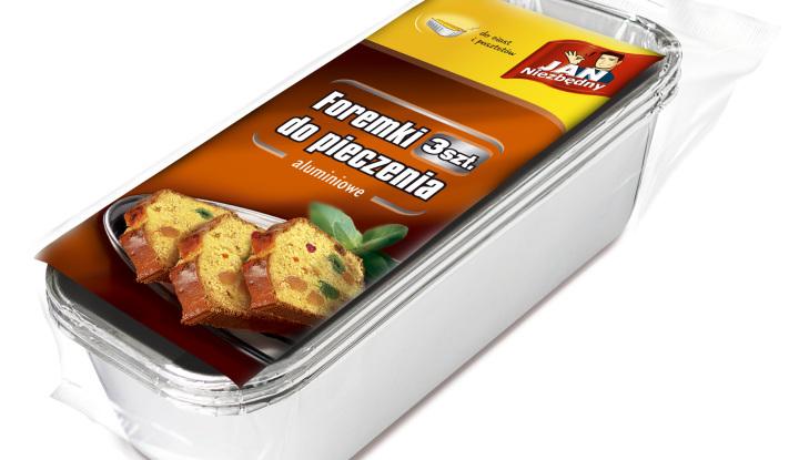 Jan Niezbędny_ foremki do pieczenia aluminiowe do ciast i pasztetów_cena ok. 4,50 zł_3szt