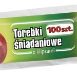 Jan Niezbędny torebki śniadaniowe z klipsami, cena 2 zł