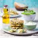 Racuszki z krewetkami i jogurtem naturalnym